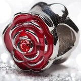 Rose Charm For Bracelet Or Necklace