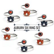 Auburn Rings - Six Ring Squad Gift Set - War Eagle!