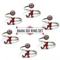 Alabama Rings - Six Ring Squad Set - Roll Tide!