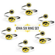 Iowa Hawkeye Rings - Six Ring Squad Gift Set