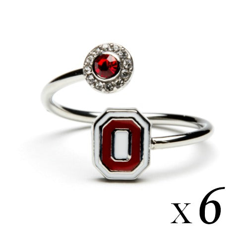 Ohio State Rings - Six Ring Squad Gift Set - Go Buckeyes!