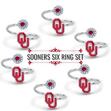 Oklahoma Rings - Six Ring Squad Gift Set - Boomer Sooner!