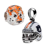 Auburn Aubie Bead Charm And Helmet Pendant Set