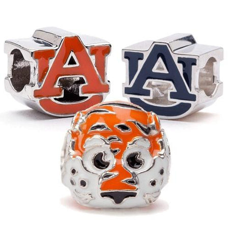 Auburn University AU Bead Charm Orange