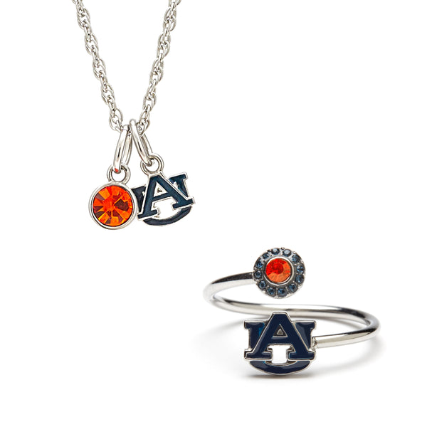 Gift Set-Love Auburn Tigers Ring and Necklace