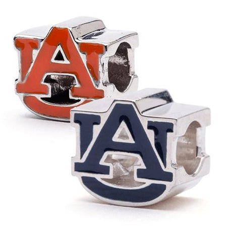 Auburn University Bracelet Gift - Blue AU Crystal Dangle Bangle Bracelet