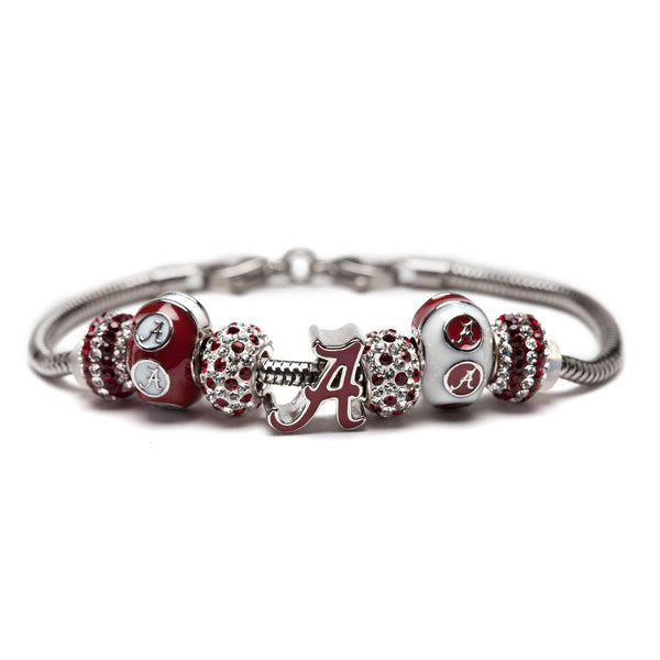 University of Alabama Jewelry Charm Bracelet