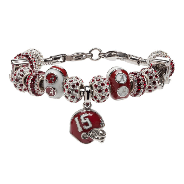 University of Alabama Bead Charm Bracelet Jewelry