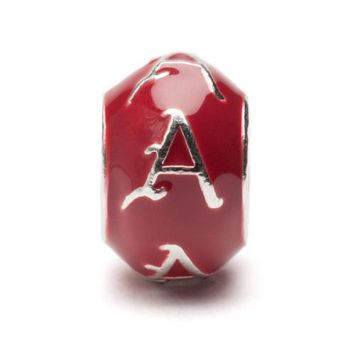 University of Arkansas Jewelry Cardinal A Round Bead Charm