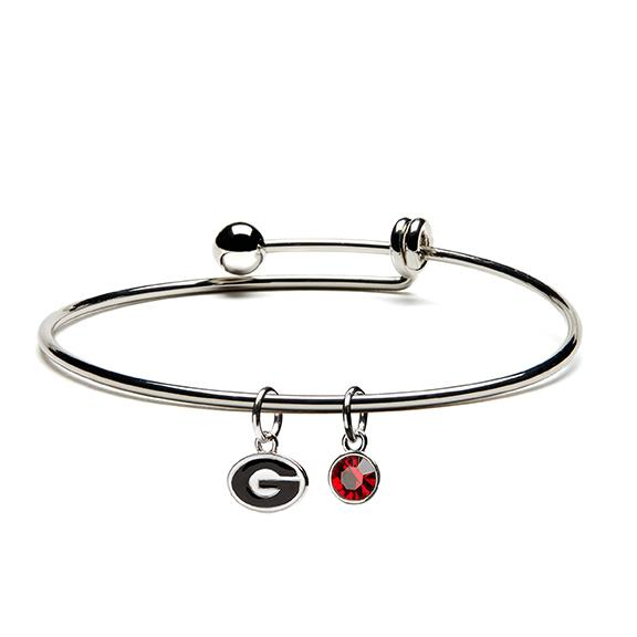 University of Georgia Bulldogs Dangle Bangle Bracelet