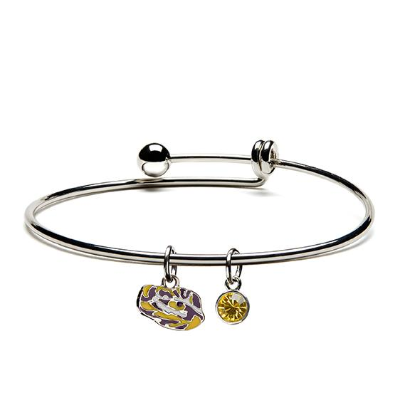 Louisiana State University Tigers Dangle Bangle Bracelet