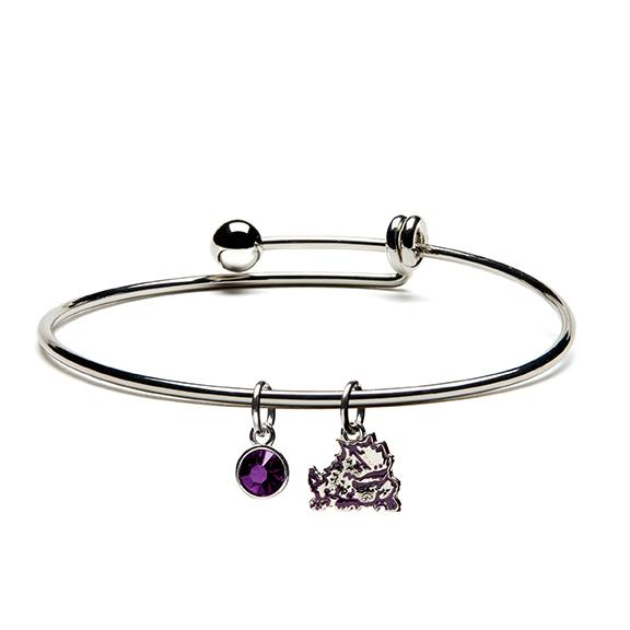 TCU Horned Frog Charm Dangle Bangle