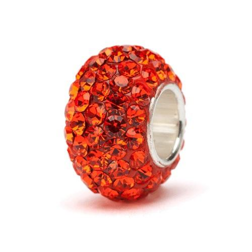 Orange Crystal Bead Charm