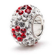 Red and Clear Flower Crystal Charm