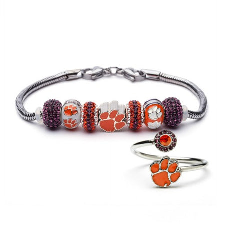 Gift Set- Ultimate Syracuse Fan Charm Bracelet and Ring