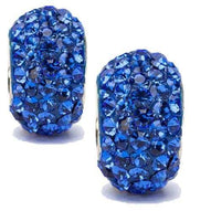 Blue Crystal Charm Set of Two