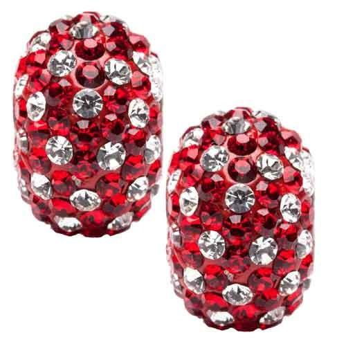 Red with Clear Spotted Crystal Charm Set