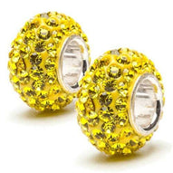 Yellow Crystal Sparkle Charms (Set of Two)