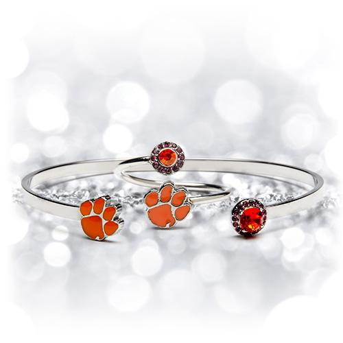 Gift Set- Love Clemson Tigers Ring and Bangle