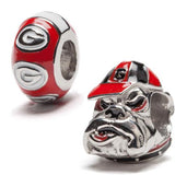 University of Georgia Bulldogs Two Piece Bead Charm Set