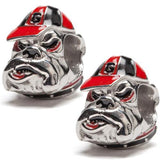 University of Georgia Bulldog Bead Charm Set of Two