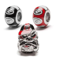 UGA Bulldogs Jewelry Bead Charm Set of Three