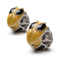 Georgia Tech Yellow Jacket Bead Charm Set of Two - Stainless Steel