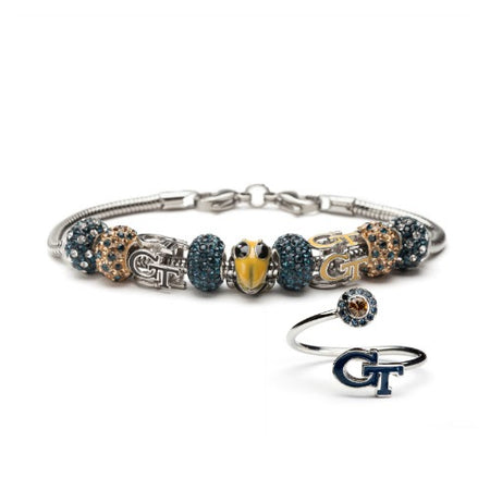 Georgia Tech GT Yellow Jackets Bead Charm Bracelet