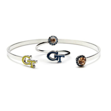 Georgia Tech Yellow Jackets Three Bead Charm Set