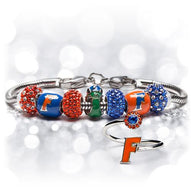 Gift Set- Ultimate Florida Gators Fan Charm Bracelet and Ring