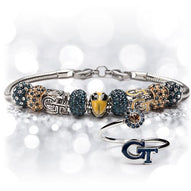 Gift Set- Ultimate Georgia Tech Fan Charm Bracelet and Ring