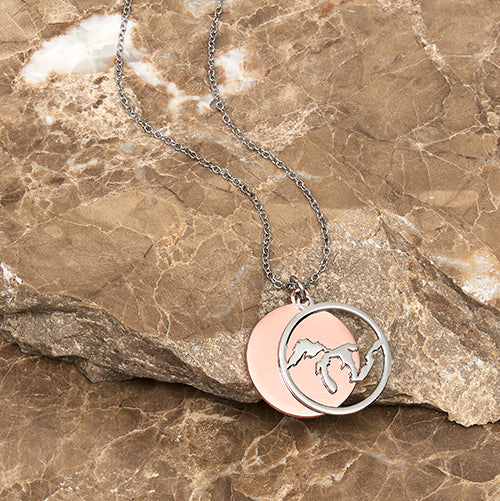 Great Lakes Necklace with Copper Accent