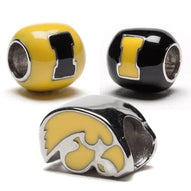 Iowa Hawkeye Bead Charm Set of Three