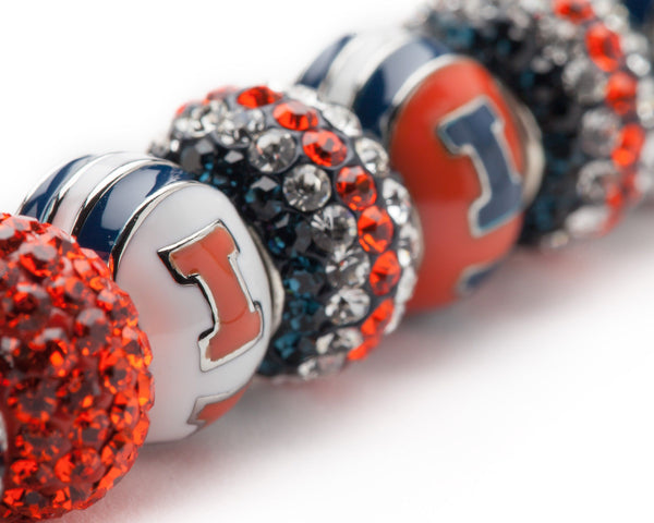 Illinois Fighting Illini Charm Bracelet Jewelry