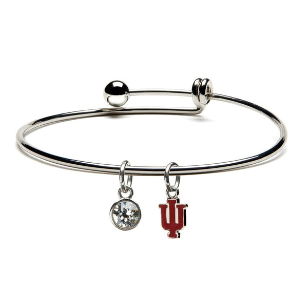 Indiana University Dangle Bangle Bracelet