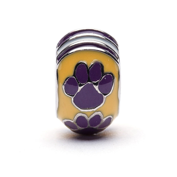 Louisiana State Tigers Bead Charm Bracelet Jewelry