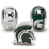 Michigan State University Bead Charm Set of Three
