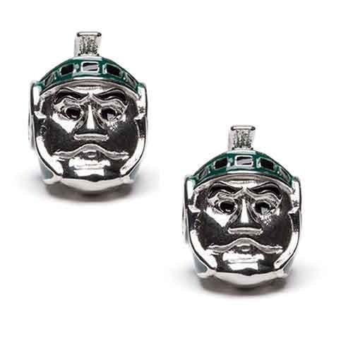 MSU Spartan Jewelry Bead Charm Set of Two