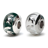 Go Green Go White Michigan State Spartans Jewelry Set of Two