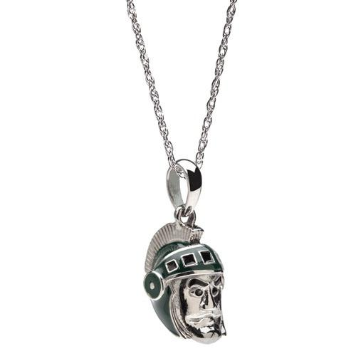 MSU Sparty Charm Pendant Necklace
