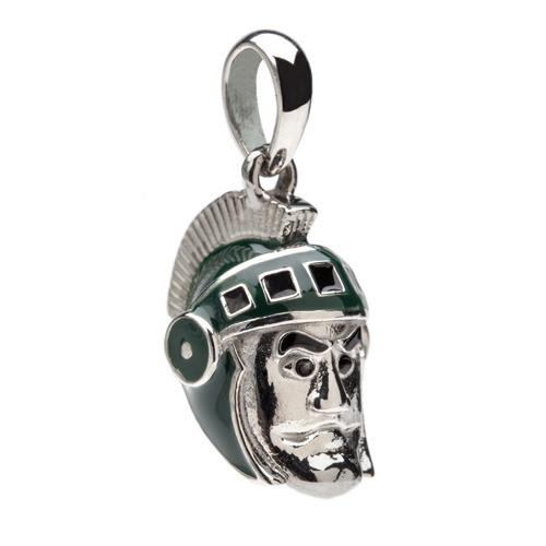 MSU Sparty Charm Pendant - For Bracelet or Necklace