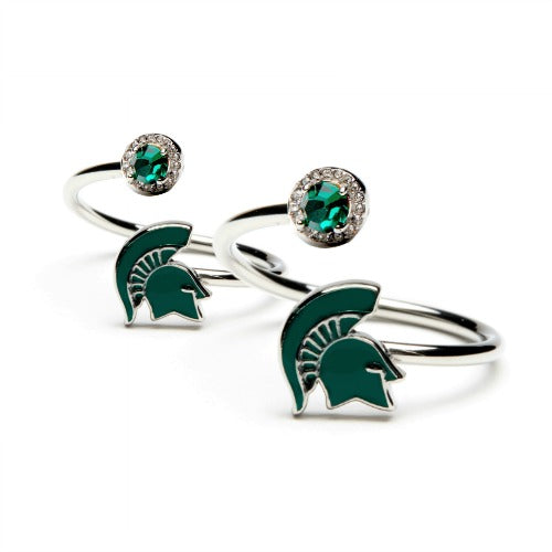 Gift Set-MSU Spartans One for You and One for Me Rings