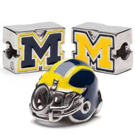 Michigan Football Helmet Bead Charm Set
