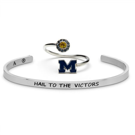 Michigan Bangle-Hail to the Victors-Adjustable