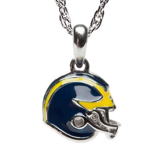 University Of Michigan Football Helmet Pendant Necklace