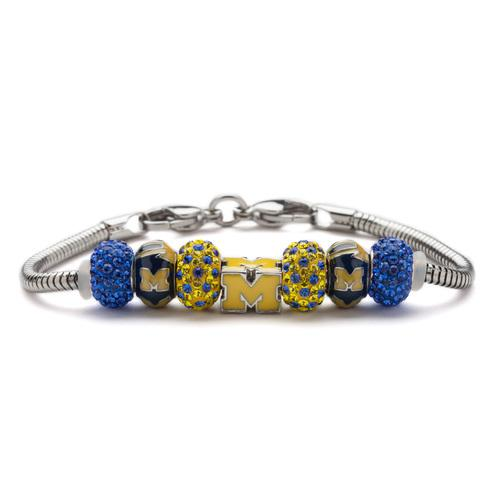 University of Michigan Charm Bracelet