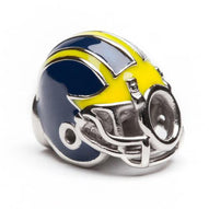 University of Michigan Wolverines Football Helmet Bead Charm