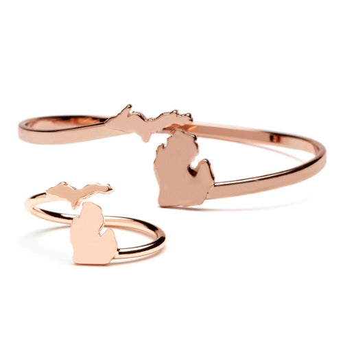 Gift Set-Love Michigan Copper Ring and Bangle