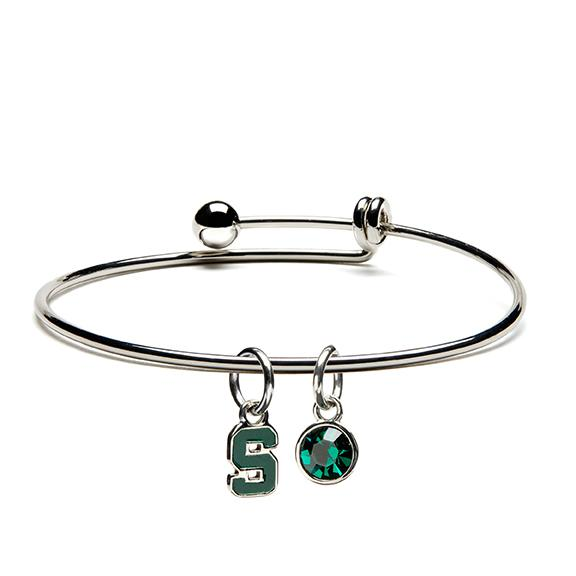 Michigan State University Bracelet Dangle - Adjustable