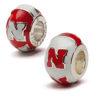 University of Nebraska Bead Charm Set of Two